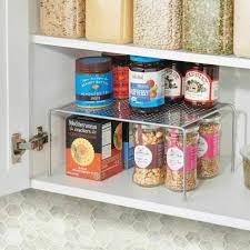 kitchen cabinet organizer shelf small small metal kitchen cabinet pantry storage shelf pack of 2