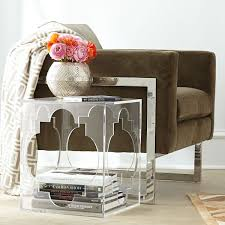 clear plastic bedside table acrylic lucite furniture my favorite finds driven by decor