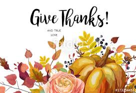 happy thanksgiving vector floral watercolor style