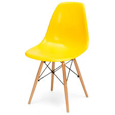 buy eames style bright yellow chair retro eames style yellow
