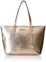light brown mk purse amazon com michael kors t z tote jet set travel pale gold leather