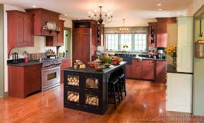 Red And Black Kitchen Cabinets by Pictures Of Kitchens Traditional Black Kitchen Cabinets