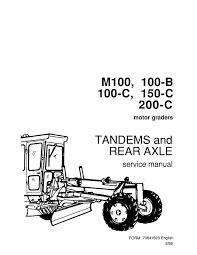fiat allis 100b 100 b motor grader repair service workshop manual