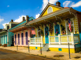 new orleans colorful houses street american photo blog