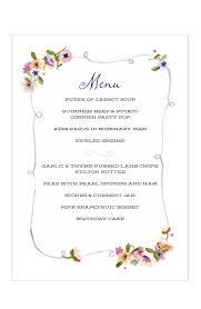 free printable wedding menu templates process technician job
