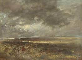 david cox moorland landscape shepherd and sheep art uk