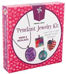 necklace pendant making images Girls jewelry making necklace kit pinwheel crafts diy jpg
