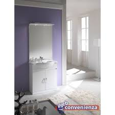 armadietto bagno con specchio gallery of mobile bagno con 2 ante e specchio bianco mobili