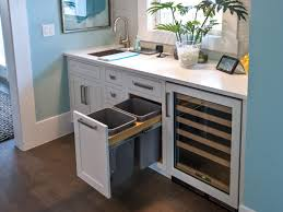 Kitchen Cabinets Bars Fancy Built In Wine Fridge With Grey Color Kitchen Cabinets And