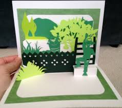 Free Kirigami Card Templates Fruit Picker Pop Up Card Template From