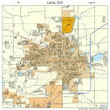 lima map map of lima ohio my