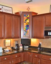 faux stained glass kitchen cabinets decorative glass solutions custom stained glass custom