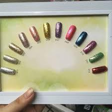 12 different colors nail polish fashionable style luminous paint