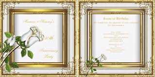50th wedding anniversary gift etiquette 50th wedding anniversary invitation wording