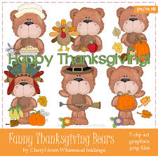 thanksgiving bears cheryl seslar clip clip
