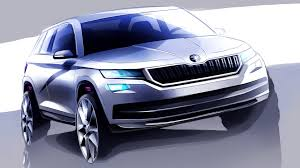 skoda kodiaq 2017 skoda kodiaq seven seat suv teased ahead september reveal