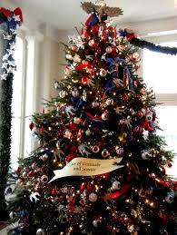 patriotic tree ornaments lights decoration