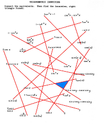 connect the dots trig identities puzzle