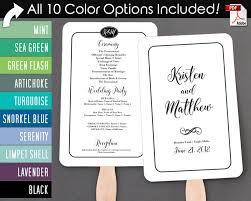 simple wedding program simple border script wedding program fan cool colors