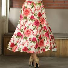 hawaiian pattern skirt 2018 women long skirts hawaii flower blend linen long shirt casual