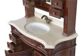 Bathroom Vanities Antique Style Antique Style Bathroom Vanity Single Grey Wooden With White Top