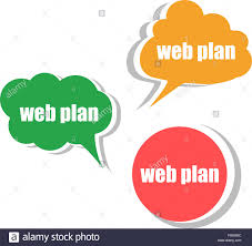 web plan set of stickers labels tags template for infographics