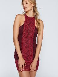 free people natasha lace bodycon dress in red lyst