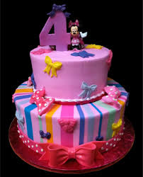 minnie mouse bowtique birthday cake pink buttercream iced 2