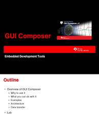 ccs gui composer embedded system graphical user interfaces