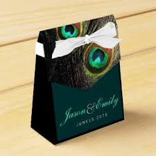 peacock wedding favors wedding favor boxes zazzle