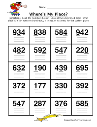place value worksheet hundreds tens ones have fun teaching