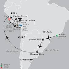 Peru South America Map by South America Tours Cosmos Budget Vacations