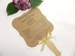 fan style wedding programs rustic wedding program fans designs agency