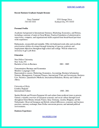 Recent College Grad Resume Resume College Application And Format On Pinterest Throughout 21