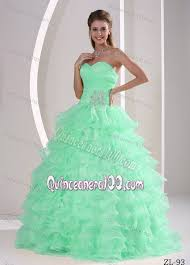 dresses for sweet 15 princess beaded apple green sweet 15 dresses with ruffled layers