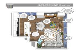 Houzz Drawing Room by Vote In The Houzz Sketchchallenge Decorex International