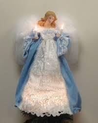 lighted angel christmas decoration elegant angel tree topper 13 5 blue cameo elegant lighted