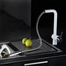 white kitchen faucets pull out 2015 pull out kitchen faucet white spray lacquer kitchen faucet