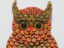 bottle cap necklaces wholesale owl wall art with metal bottle cap owl sculpture with mixed