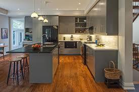 light grey kitchen cabinets with black appliances 22 grey kitchen cabinets designs decorating ideas design
