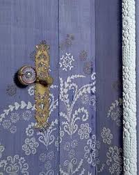 personalizing exterior doors with bold paint colors and original