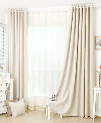 Single Blackout Curtain Off White Blackout Curtain Insulation Curtain Custom Curtains