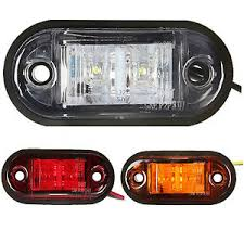 led side marker lights for trucks sa 12v 24v 2 led side marker lights l for car truck trailer e