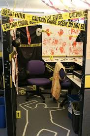 How To Decorate A Desk Happy Halloween We Had A Cubicle Decorating Contest At The