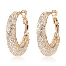 best earrings best selling artificial jewellery mesh gold hoop earrings