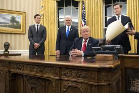 trump adds his u0027touch u0027 to the oval office the issue