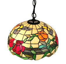 tiffany style floral hanging pendant 2 light lamp tiffany and