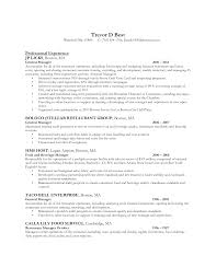 Restaurant Manager Resume Template Sle Resume Manager General Management Exles Restaurant