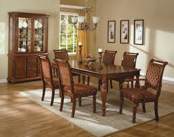 dining room white futon dining chair wooden dining table curio