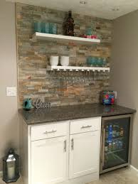 small dry bar with lowes desert quartz ledge stone floating